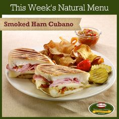Smoked Ham Cubano - perfect sandwich for lunch or dinner. #natural #food #ham #cubano   http://www.hormelnatural.com/recipes/details/3482/smoked-ham-cubano.aspx