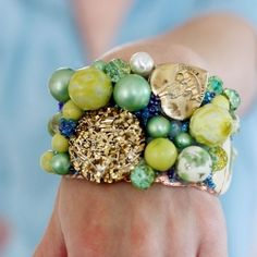 Make funky bracelets from all the nifty bits at the bottom of your junk drawer.