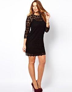ASOS CURVE Shift Dress In Crochet Lace