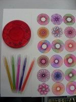 Magic Circles Spirograph Kit 5 Colour Spirograph Pen by TurksShop, $10.00