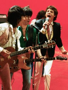 ronnie wood, keith richards & mick jagger