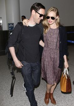 Introducing the newlyweds! Kate Bosworth and Michael Polish were spotted arriving to LAX from their wedding in Montana.