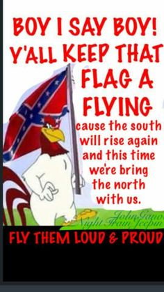 Foghorn Leghorn: Keep flying that flag Southern Heritage, Southern Pride, Southern Comfort, Southern Belle, Confederate States Of America, Confederate Flag, Rebel Yell, Down South, American Pride