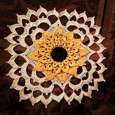 Sunflower Crocodile Stitch Doily