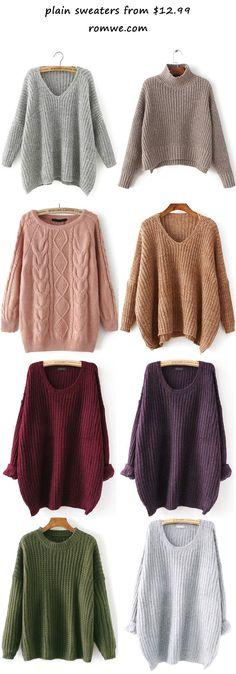 plain sweaters 2017 - romwe.com