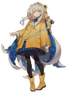 粥さん (@SuteinuA) / Twitter Drawing Anime Clothes, Anime Girl Drawings, Anime Art Girl, Cute Drawings, Fantasy Character Design, Character Drawing, Character Design Inspiration, Cute Art Styles, Cartoon Art Styles