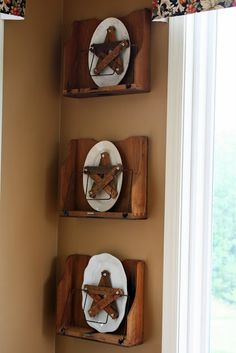 great display idea - via Mamie Jane's