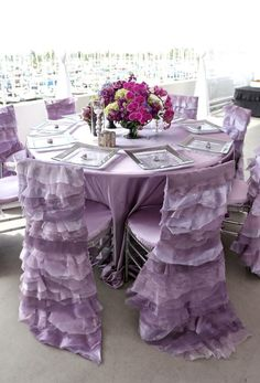 Anna Chair Cover & Wedding Linens Rental Burnaby Bc Wicker Cushions Australia 695 Best Purple Reception Ideas Images Rentals Reality Tv Stars Spring Inspiration Linen