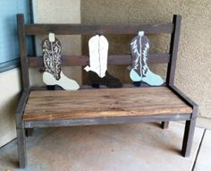 Rustic Wedding Bench | FaveCrafts.com