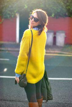 So cozy - yellow sweater