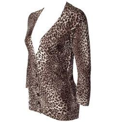 animal print cardigan.... WANT!