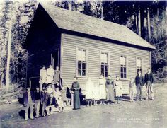 "McNeil ""Panther Creek"" School.  Gunter, Oregon - ca1900"