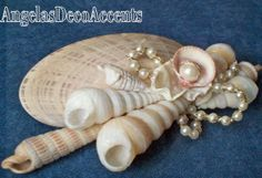 Seashell Hair Barrette, Beach Accessory, Customize Bridal, Beach Weddings, Natural Shells, Large Barrette, Chic Champagne White. Cream Blush...