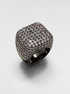 M.C.L by Matthew Campbell Laurenza - Pink Sapphire, Amethyst, White Topaz & Sterling Silver Ring.