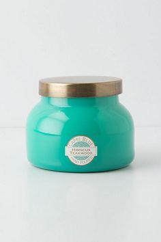 favorite candle ever: Capri Blue Jar Candle - scent: hibiscus teakwood