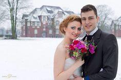 Hochzeit im Schnee, Fotoshooting in Mönchengladbach mit Detlef Jendretzki
