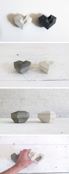 I used a 3D printer to create a silicone mold for these concrete heart boxes. The molds are reusable and these boxes make for great gifts! Check out the website for instructions and full material list: http://www.homemade-modern.com/ep72-concrete-heart-box/