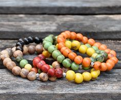 Colorful Acai Beaded Bracelets | Handmade Bead Bracelets | Free Shipping!