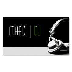 DJ Music Club Entertainment Business Card    . This great business card design is available for customization. All text style, colors, sizes can be modified to fit your needs. Just click the image to learn more!