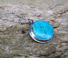 Tibentian Turquoise Round Cabochon Oxidized by MissieRabdau