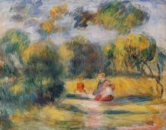 Oil painting reproduction: Pierre Auguste Renoir Figures In A Landscape 1900 - Artisoo.com