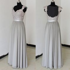 Lace Floor Length Bridesmaid Dresses pst0227