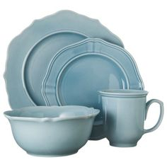 Threshold™ 16 Piece Wellsbridge Dinnerware Set - Aqua I just bought 1 place setting of this, ♥ it! The bowl is oversized and is wonderful for a meal sized salad