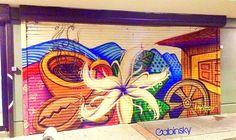 Hacienda San Pedro Ave. De Diego, Pda. 22, Santurce, PR Graffitti en la santamaria.