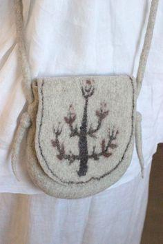 Felt bag handmade handbag shoulder bag felted purse hobo