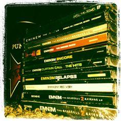 Eminem's Albums - photo by Jennifer Russell Curtain Call The Hits, Eminem Albums, Eminem Slim Shady, Puns, Rap, Clean Puns, Wraps, Funny Puns, Rap Music