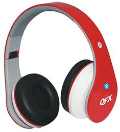 QFX H251BTRERED Folding Bluetooth Stereo Headphones Red -- Details can be found by clicking on the image.