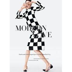 Zen Sevastyanova Gets Mod for Harper's Bazaar UK March 2013 by... ❤ liked on Polyvore