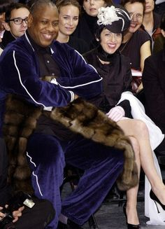 issy with leon talley two of my top favorite fashion icons