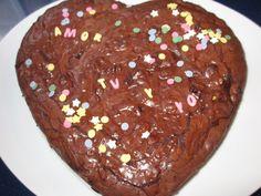 Corazón de chocolate. Ver la receta http://www.mis-recetas.org/recetas/show/40306-corazon-de-chocolate