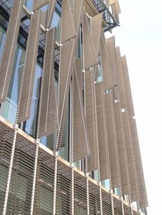 Smart shading systems promote sustainability and enhance the building performances. Kinetic Architecture, System Architecture, Facade Architecture, Sustainable Architecture, Sustainable Design, Shading Device, Metal Facade, Solar Shades, Hospital Design