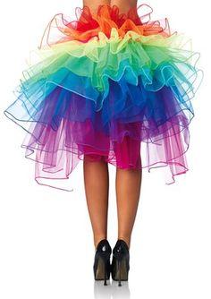 LEG AVENUE A1999 Sexy Rave Tutu Layered Organza Rainbow Bustle Skirt Dancers | eBay