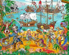 Praatplaat piraten | Praatplaten kleuters / Children's illustrations preschool / Láminas Didácticas | Pinterest