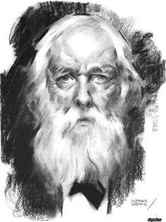 Портрет мужчины карандашом