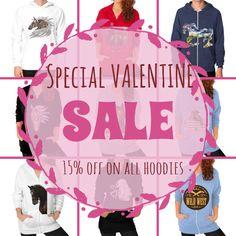 Valentine's day sale has started: 15% off all hoodies until Feb, 14th! Enjoy #valentine #dddailynews
