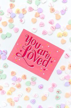 DIY Valentine's Day Postcards + Free Printables