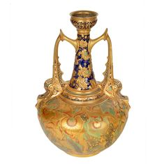 For Auction: AN ENGLISH TWO-HANDLED PERSIAN-STYLE VASE, ROYAL CROWN (#0058) on Jul 26, 2020   Shapiro Auctions in NY Royal Crown Derby, Crown Royal, Old Paris, Antique Auctions, Magic Carpet, Persian, Art Decor, Antiques, Antique Vases