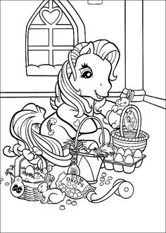 Min Lille Pony Tegninger til Farvelægning. Printbare Farvelægning for børn. Tegninger til udskriv og farve nº 10