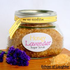 Echoes of Laughter: Honey Lavender Sugar Scrub +FREE Printable {Gift Idea}