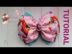 Bow Tutorial, Boutique Hair Bows, Lace Headbands, Pasta Flexible, Cute Crafts, Hair Pins, Hairbows, Crochet, Handmade