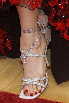 Stuart Weitzman Platinum Guild Stilettos...Most Expensive Shoes Ever...whopping 464 diamonds