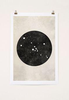 Stier Sternbild Taurus Kunst von blackandthemoon auf Etsy