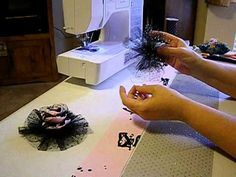 How to Make Doll Barrettes Pt. 2   Decorate barrettes with tulle, organza, fabric, and ribbon to match your doll clothes.