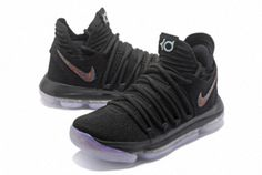 promo code 1263a 01b86 Authentic KD 10 X Anniversary Black Basketball Sneakers, Basketball Tips,  Kevin Durant Shoes,