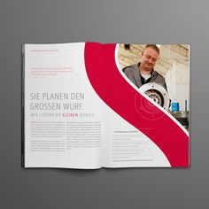 "Brochure Layout Design {love how the photo mimics the ""S"" element} // Sahlberg by Alexander Hauptkorn"