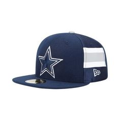 Mens Dallas Cowboys Jersey Stripe Team 59Fifty Hat Reebok.  33.95 c6da969ea